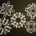You can learn how to make your own paper snowflakes if you click the link.
