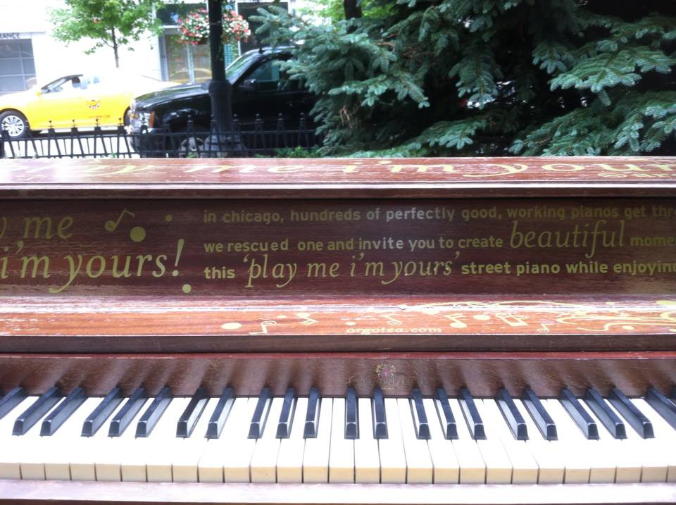 A piano found in the middle of Chicago